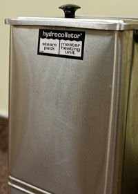 hydrocollator steam packs for deep tissue massage